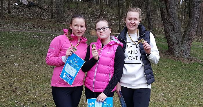 Trys nugalėtojos - Mingailė Vasiliauskaitė, Ieva Eigelytė ir Lina Surgelaitė.