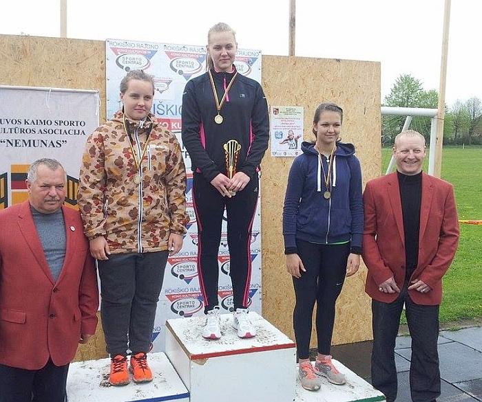 Lina Surgelaite pasiekė naują rekordą.