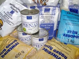 Šiemet pagalba maistu bus gerokai skurdesnė.