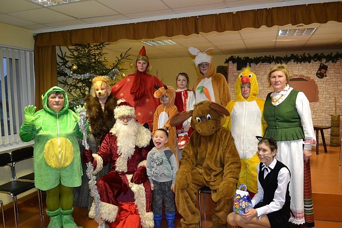 """Po teatralizuoto renginio """"Kalėdinė pasaka visai šeimai"""". 2017 m."""