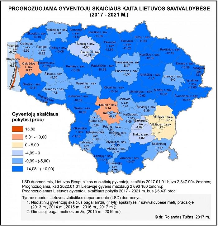 Rolando Tučo sudarytas prognostinis žemėlapis buvo publikuotas portale Delfi.
