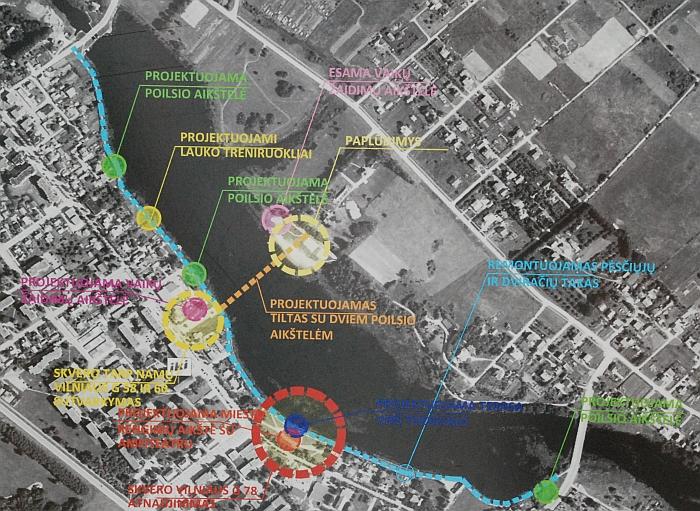 Šiuo metu čia vykdomų darbų žemėlapis
