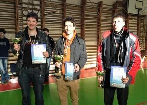 Prizininkai - iš kairės į dešinę: Jonas Deveikis, Augustinas Erslavas, Laimis Verbilis.