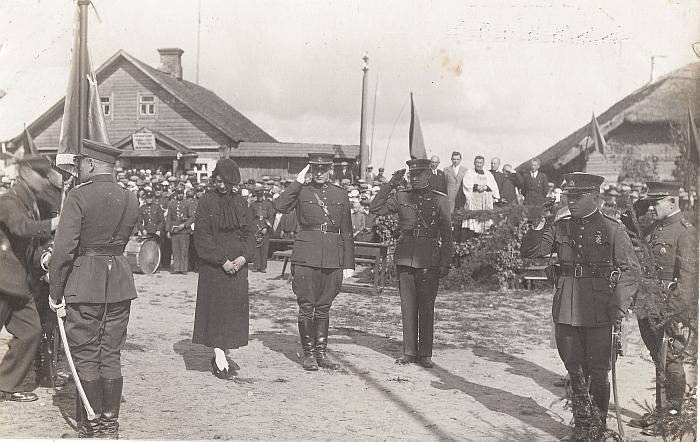 Tarpukario Šaulių sąjungos ir kariuomenės renginys Musninkuose (nuotrauka iš šiauliečio Petro Kaminsko kolekcijos).