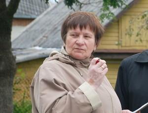 Musninkų bendruomenės pirmininkė Jadvyga Kielienė.