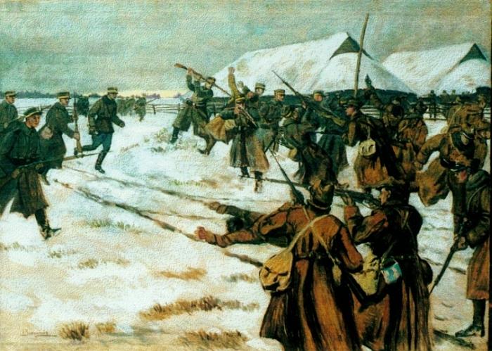 "Otas Enas Jeneris. ""Mūšis su lenkais ties Širvintomis"". 1924 m. (kam.lt)"