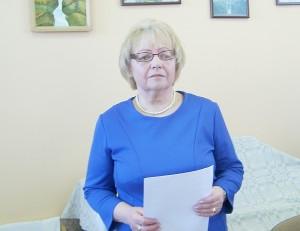 Ataskaitą perskaitė Širvintų neįgaliųjų draugijos pirmininkė Stanislava Maslinskienė.