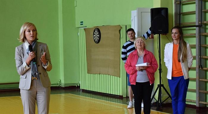 Merė Živilė Pinskuvienė neįgaliesiems palinkėjo siekti maksimalių rezultatų.