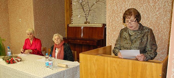 Melanija Jachimavičienė perskaitė Širvintų rajono neįgaliųjų draugijos veiklos ataskaitą.