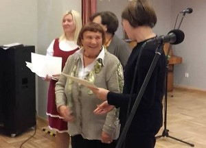 Joana Zinkevičienė Maišiagaloje paskelbta laureate.