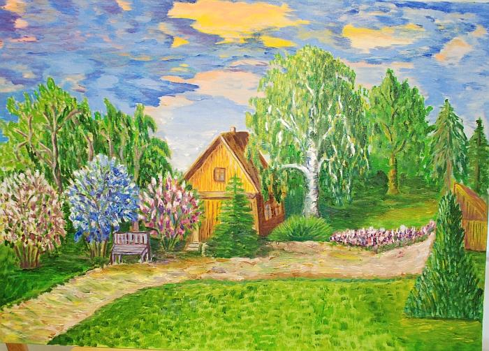 Joanos paveiksluose daug geltonos spalvos.