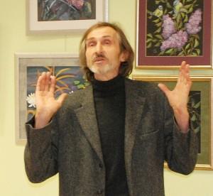 Henrikas Orakauskas parodos atidarymo Kultūros centre metu.