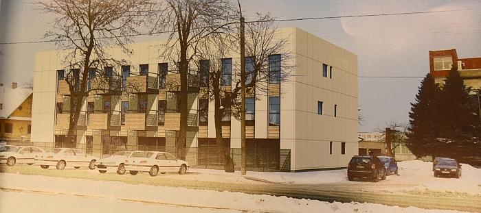 Taip turėtų atrodyti naujasis socialinių būstų pastatas (vizualizacija).