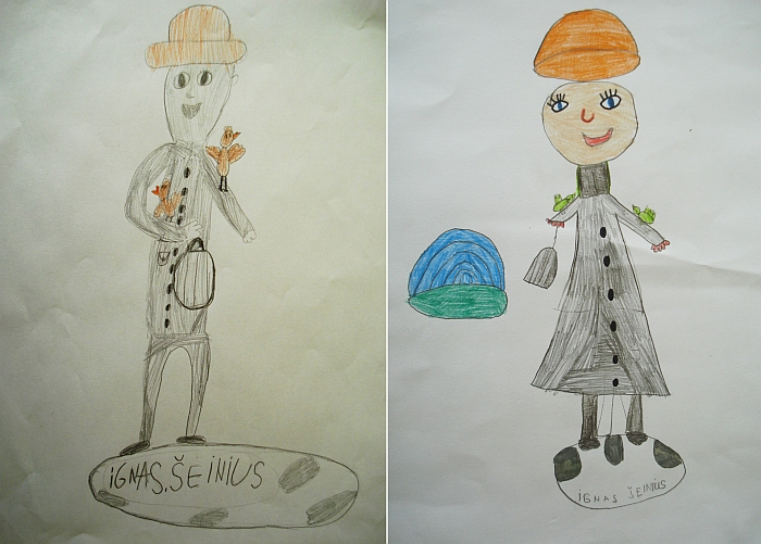 Vaikai nupiešė Igną Šeinių.