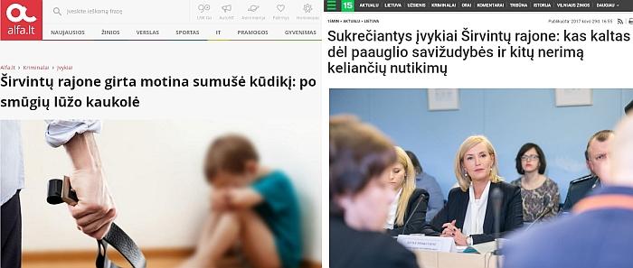 Internetinė žiniasklaida formuoja nuomonę, kad Širvintų rajone dėl vaiko teisių - katastrofiška situacija.