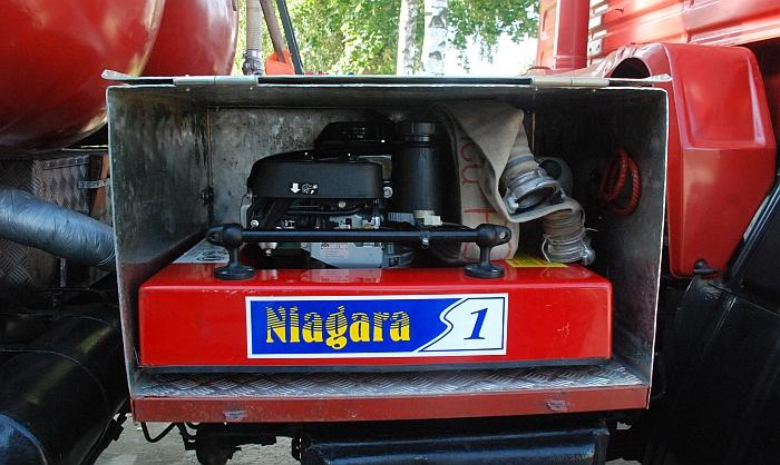 """Plaukiojantis motorinis vandens siurblys """"Niagara""""."""