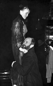 """Albero Kamiu dviejų dalių romantinė drama """"Teisieji"""". Dalia Michelevičiūtė (Dora Duboleva - didžioji kunigaikštienė) ir Vladislovas Radvilavičius (Stepanas Fokas)."""