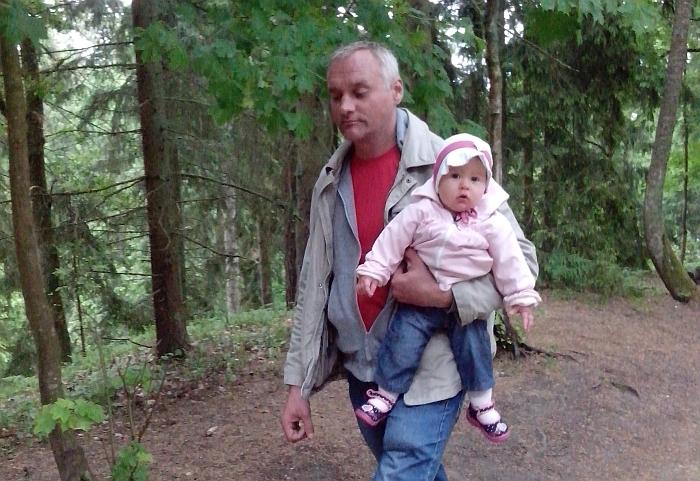Darius Redeckas su jaunėle dukra.