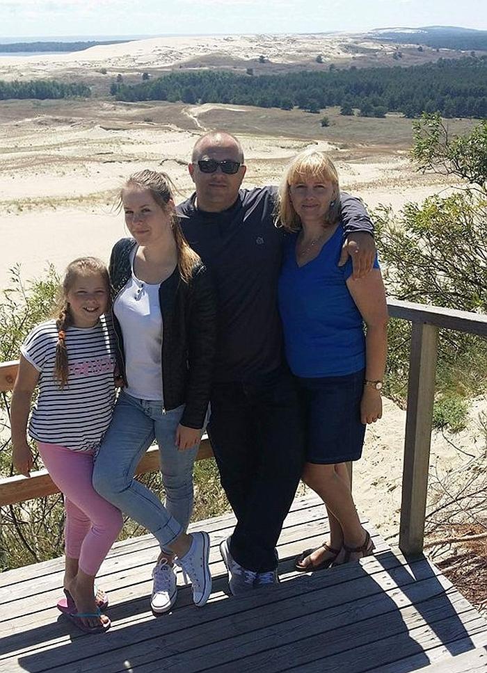 Rimos šeimos atostogos Nidoje.