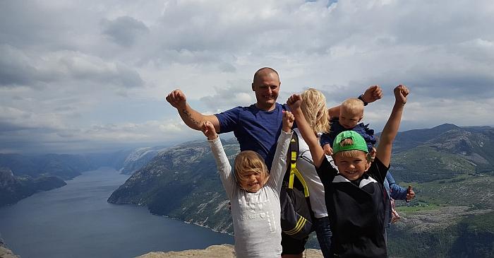 Sandros ir jos šeimos poilsis Norvegijoje.