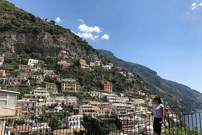 Šiais metais Šarūnė atostogas praleido grožėdamasi įspūdingais Italijos vaizdais.