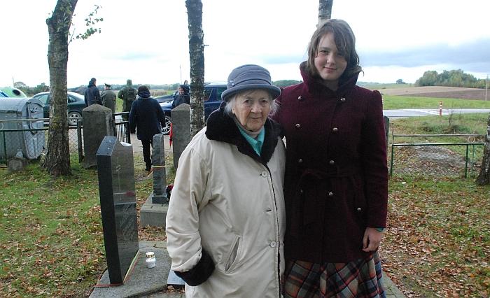 Žygyje dalyvavo buvusi partizanų ryšininkė 91-erių metų Genovaitė Zurzaitė-Varkauskienė ir jos proanūkė Rachelė Matvejevaitė.