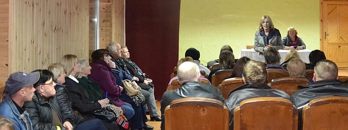 Susitikimas su gyventojais Vileikiškiuose