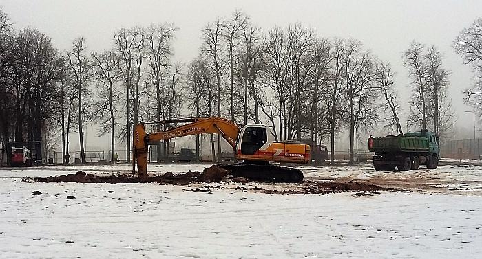Vyksta žemės darbai