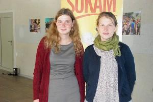 """Organizatorės Jūratė ir Donata buvo ir vienintelės renginio """"Pagauk savanorystę"""" dalyvės."""