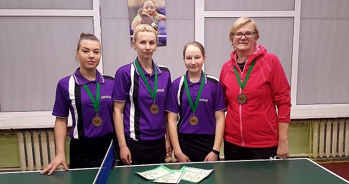 Širvintų SC komanda - Lietuvos moterų stalo teniso I lygos bronzininkė.