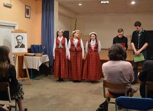 Čiobiškio pagrindinės mokyklos mokinių pasirodymas