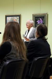 Kalba I. Šeiniaus paminklo pastatymo Širvintose iniciatyvinės grupės pirmininkė Danutė Miliukienė.