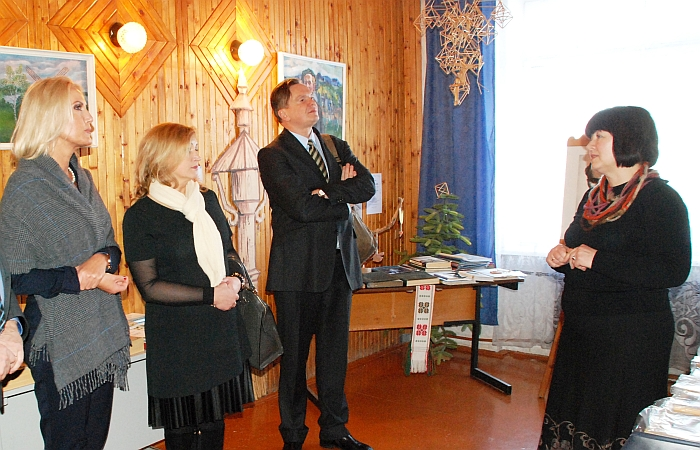 Svečiai lankėsi Bagaslaviškio Igno Šeiniaus pagrindinės mokyklos Igno Šeiniaus muziejuje.