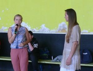 Sėkmės sportinėse kovose palinkėjo Širvintų rajono savivaldybės administracijos direktorė Ingrida Baltušytė-Četrauskienė