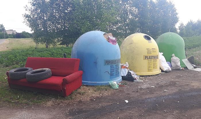 Atliekų surinkimo punktas Kieliuose su patogumais...