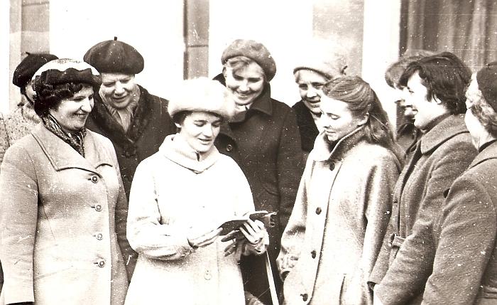 Širvintų rajono mokytojų lituanistų išvyka (mokytoja Liudvika Skardžiuvienė - antroje eilėje centre).