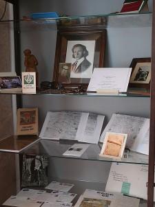Bagaslaviškio bibliotekos muziejuje eksponuojami asmeniniai Kazimiero Skebėros daiktai, saugomi jam rašyti laiškai, prisiminimai, dokumentai, knygos.