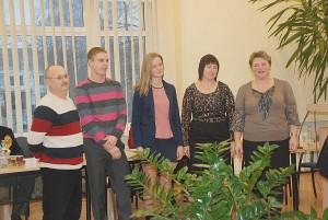 Geriausieji 2013 metų žolės riedulininkai ir jų treneriai: iš kairės į dešinę Romualdas Chmeliauskas, Giedrius Adomavičius, Gabija Barjeraitė, Aušra Janutaitė ir Rasa Buzienė.