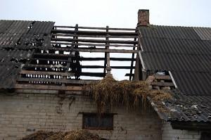 Per gaisrą Paspėriuose apdegė ūkinio pastato stogas.
