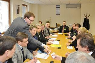 Susitikime su Darbo partijos frakcijos nariais dalyvavo ir Širvintų ligoninės vyr. gydytoja Dalia Aleknienė.
