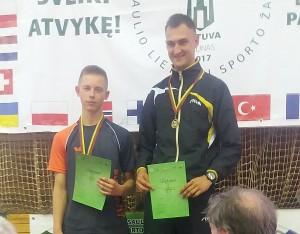 Daimonas Ušackas ir Audrius Radžiūnas vyrų dvejetų varžybose iškovojo aukso medalį.