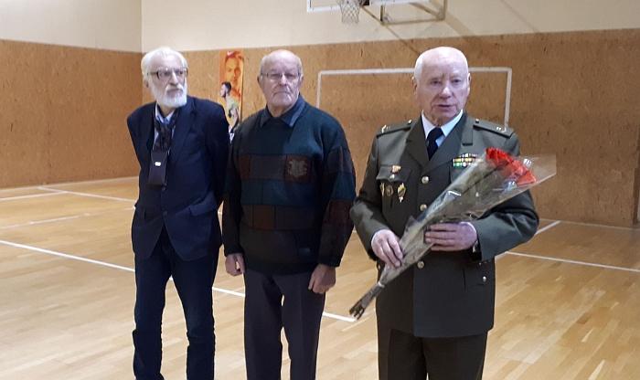 Vytauto Gaigalo mokiniai - Balys Ališauskas, Pranas Čiburys ir Leonas Vaicekauskas.