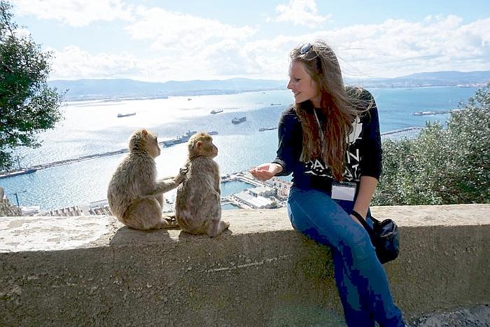 Su vietiniais gyvūnėliais Gibraltare