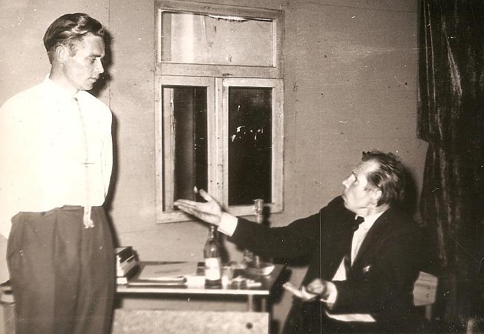 Spektaklio scena. 1963 m.