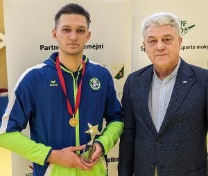 Čempionato geriausio žaidėjo prizu apdovanotas Žygimantas Balsiukas